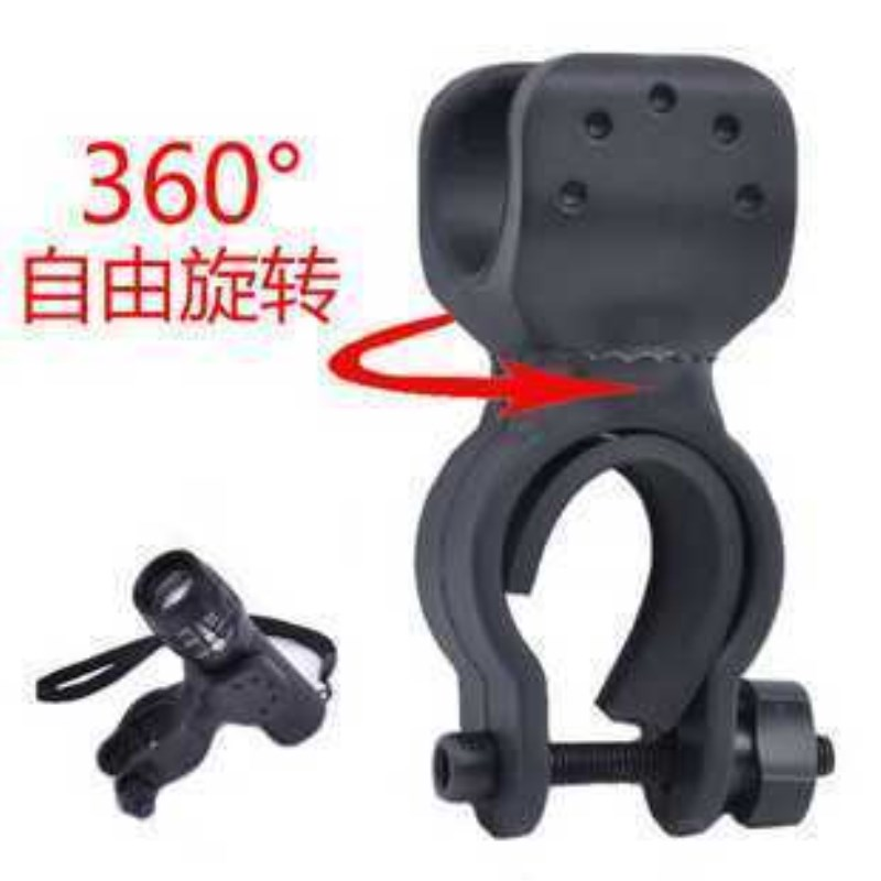 WasaFire Useful Bike Flashlight LED Torch Mount clip 360 Degree Rotation Cycling Clip Clamp Bike Light Holder Stand Bicycle Gift