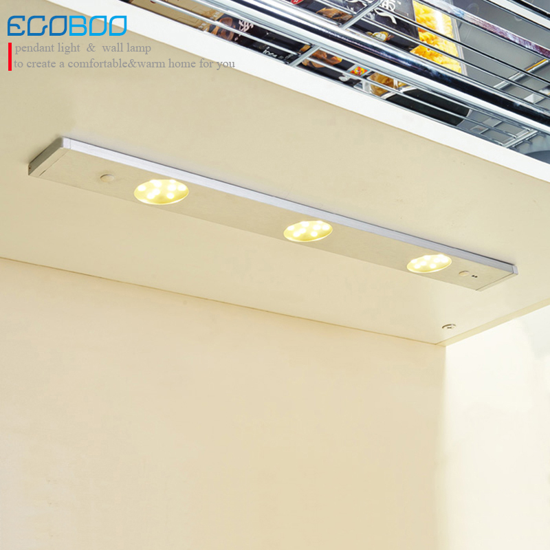 LED silver white Aluminum Lamp 12v 5.4w Real Lamp New Modern Sensor Lights for under kitchen cabinet sconces for home decoration