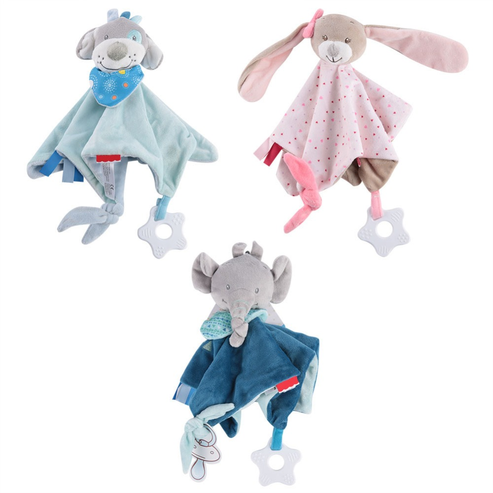 Baby Infant Animal Soothe Appease Towel Soft Plush Comforting Toy Pacify Towel Appeasing Towel Soothing Towel Baby Plush Toys