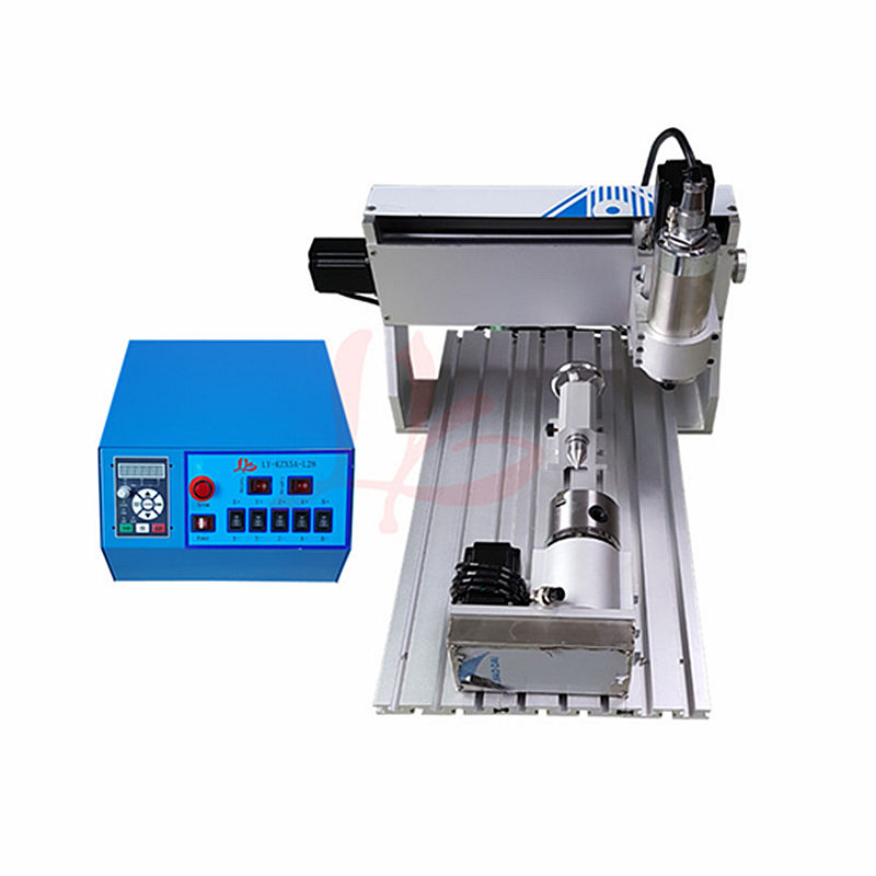 <font><b>60</b></font>*<font><b>40</b></font> 800W Mini DIY metal Engraving machine 6040 0.8KW 4axis <font><b>CNC</b></font> Router cutting Drilling Milling Machine 3axis 800W wood router image