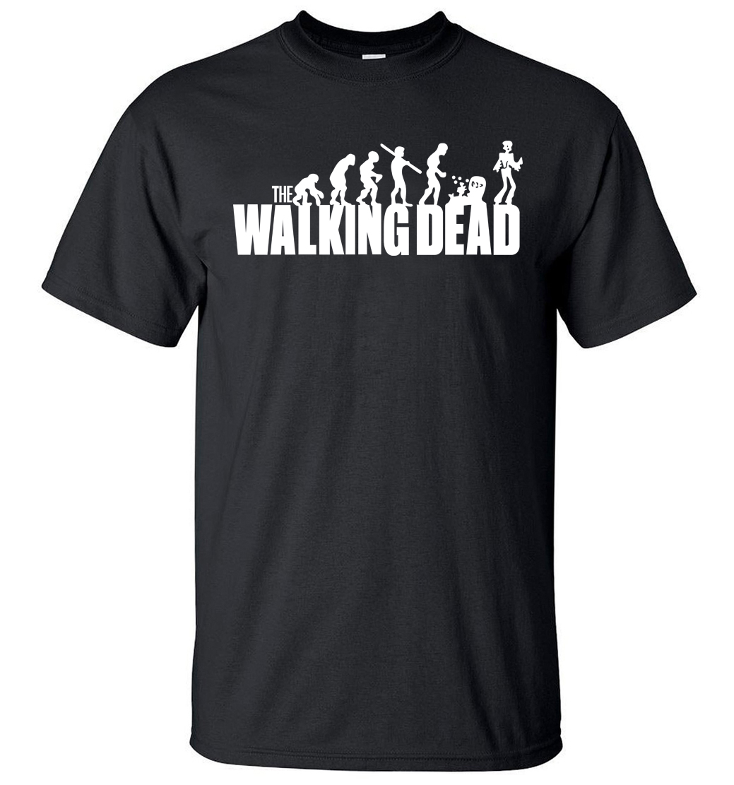 2019 new summer cool men short sleeve shirt The walking Dead print casual 100% cotton hipster t shirt hip hop streetwear