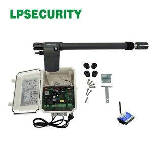 Image 2 - Accionamiento de pistón AC220V control remoto de motor de puerta automática de un solo columpio (sensor de puerta, luz de alarma, botón, abridor de puerta gsm opcional)