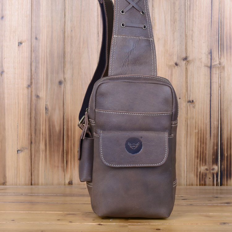 100% Crazy horse leather men bags men business men's briefcase vintage bag#0310 Shoulder Messenger bags men's travel bag 2017