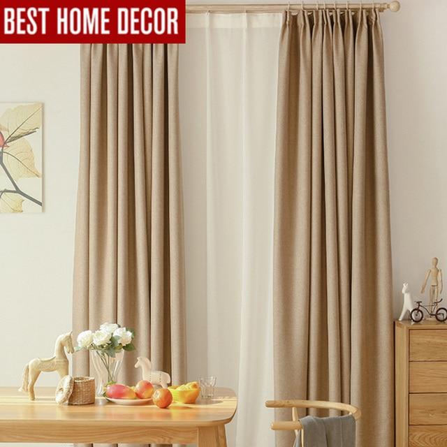 Moderno lino tende oscuranti per soggiorno camera da letto tende ...