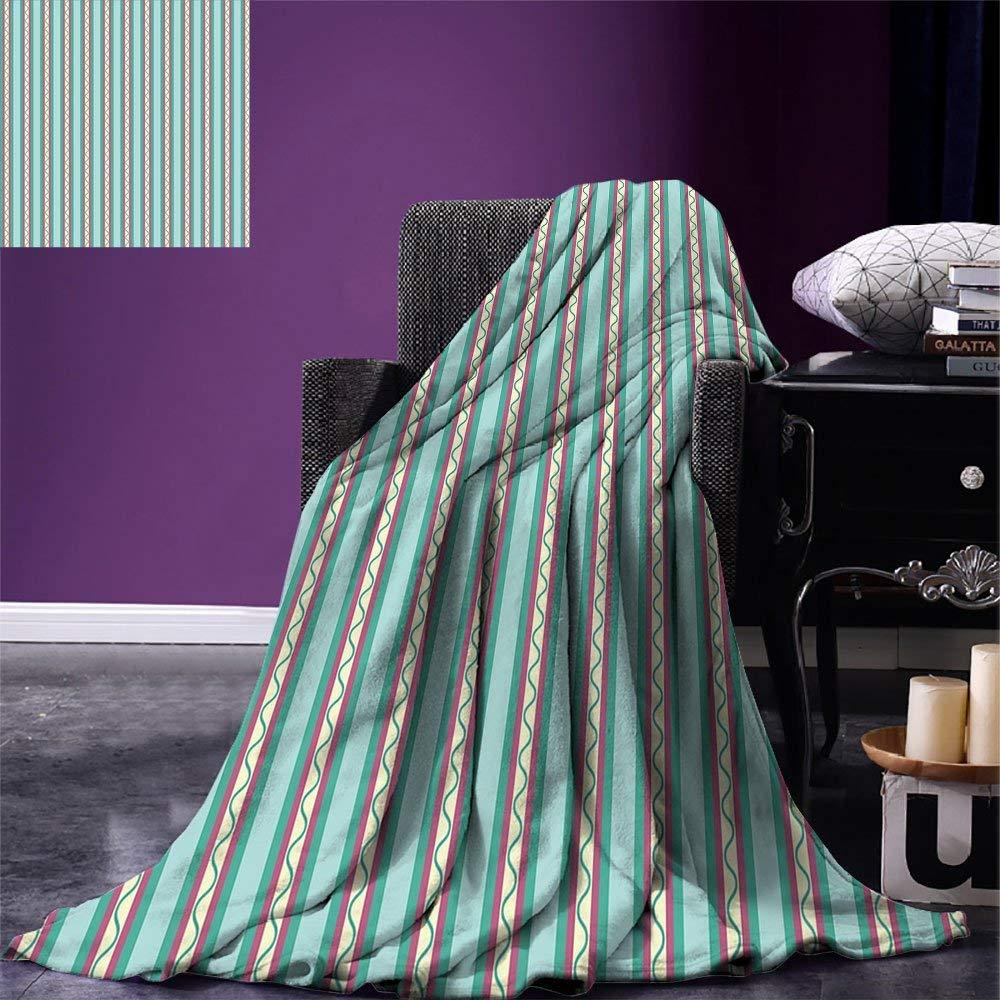 Geometric Throw Blanket Vertical Lines Straight Stripes
