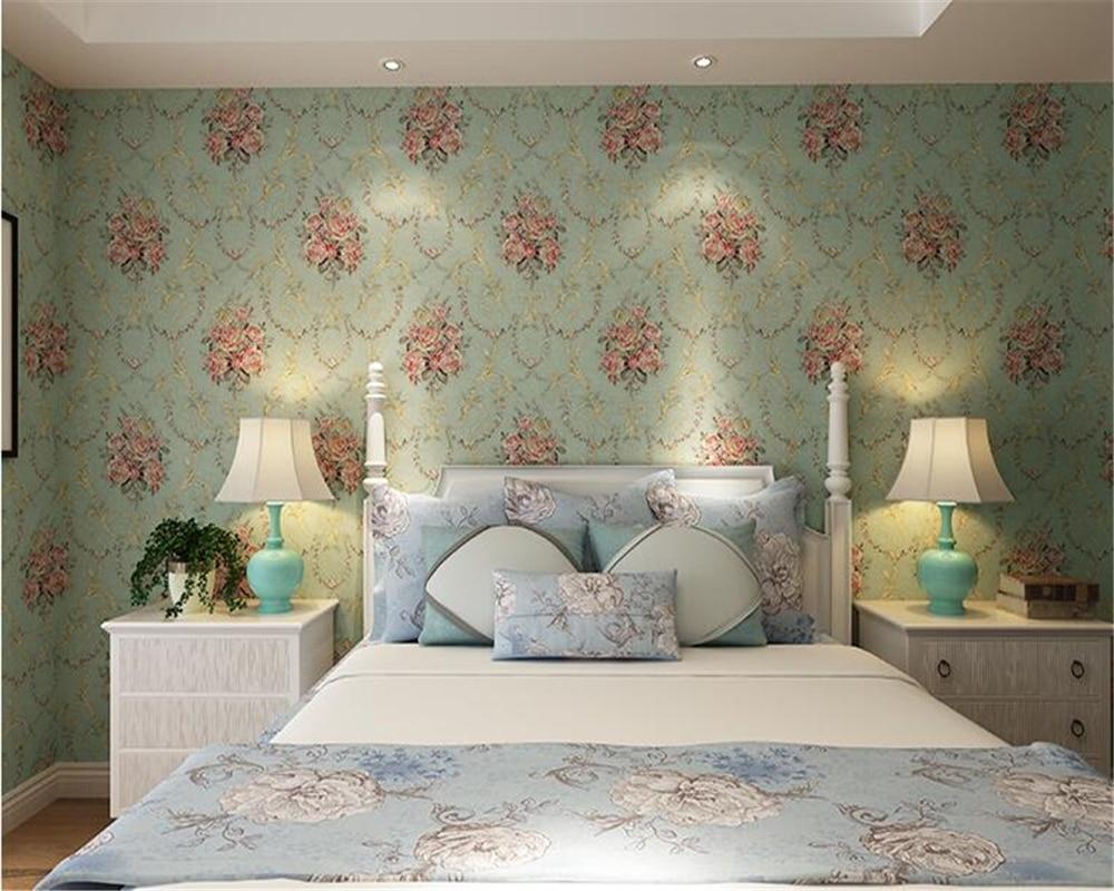 US $36.91 39% OFF|Beibehang Stereo retro grün lackiert gold vlies wand  papier 3d tapete schlafzimmer wohnzimmer hintergrund pastoralen tapete 3d  in ...
