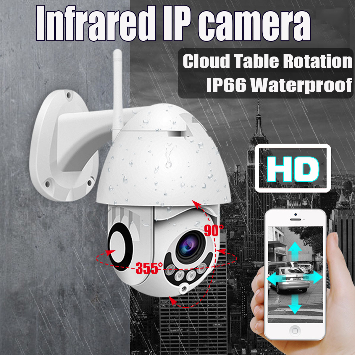 Wireless Outdoor HD 1080P PTZ WIFI IP Camera Night Vision CCTV Video Home Security 2MP IR Home Surveilance Camera Two Way AudioWireless Outdoor HD 1080P PTZ WIFI IP Camera Night Vision CCTV Video Home Security 2MP IR Home Surveilance Camera Two Way Audio