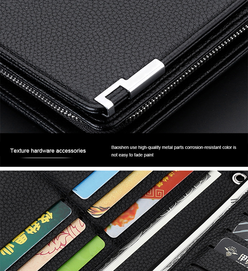 Topdudes.com - Multifunctional Big Capacity Long  Wallet With Strap & Zipper
