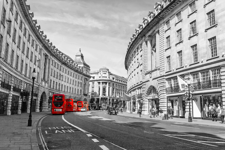 Mural London bus architecture red retro British style large-scale murals TV background wall 3D wallpaper welly london bus 99930