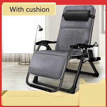 Fotel dmuchana sofa przenośne składane przerwa na Lunch łóżko domu podwójnego zastosowania singiel wypoczynek Nap z powrotem krzesła balkonowe krzesło ogrodowe tanie i dobre opinie Meble do domu Szezlong Meble do salonu KF-HHY other Metal iron Nowoczesne China Minimalistyczny nowoczesny