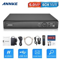 ANNKE 1080P 4CH NVR Network Video Recorder Supports Up To 4 X 1080P 2MP 3MP 4MP