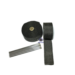 Image 5 - 10M * 2inch  Black Exhaust Heat Wrap Downpipe Engine Bay Exhaust Shields Motorcycle Exhaust Pipe Wrap Header