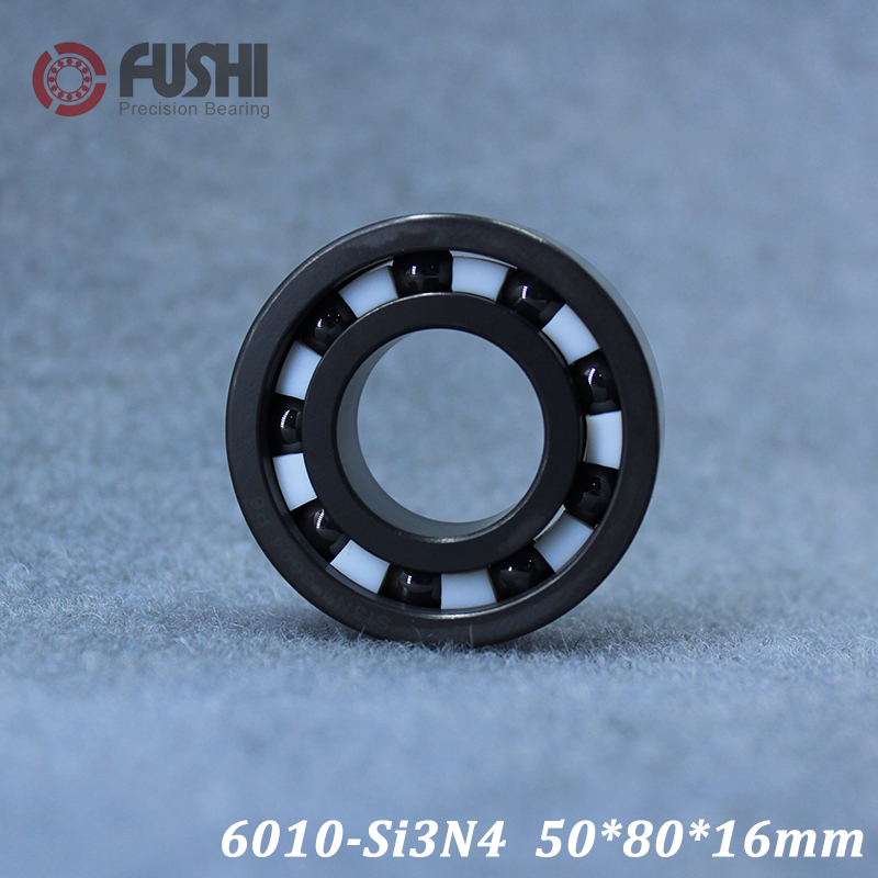 6010 Full Ceramic Bearing ( 1 PC ) 50*80*16 mm Si3N4 Material 6010CE All Silicon Nitride Ceramic Ball Bearings6010 Full Ceramic Bearing ( 1 PC ) 50*80*16 mm Si3N4 Material 6010CE All Silicon Nitride Ceramic Ball Bearings