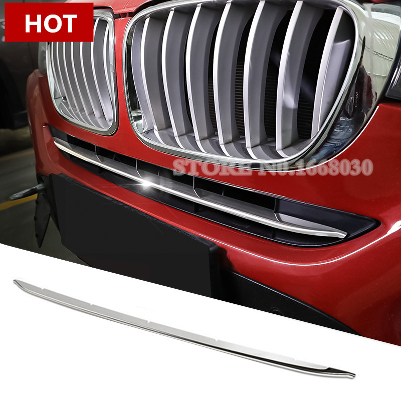 Stainless Front Grille Grid Molding Cover Trim 1pcs For BMW X4 F26 2014-2017 велосипед eltreco x4 камуфляж 2014