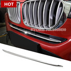Stainless Front Grille Grid Molding Cover Trim 1pcs For BMW X4 F26 2014-2017