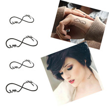 5PCS Love Infinity Symbol Waterproof Temporary Tattoos Women Body Arm Art Sticker Couple Fake Tattoo Kit Sleeve Tools