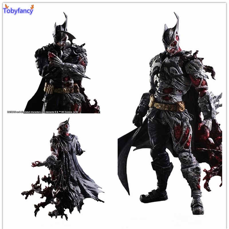Tobyfancy DC Comic Play Arts Kai Action Figures Two-Face Batman 1/6 PVC Toys 270mm Movie Model PA Kai Bat-Man Toy gogues gallery two face batman figure batman play arts kai play art kai pvc action figure bat man bruce wayne 26cm doll toy