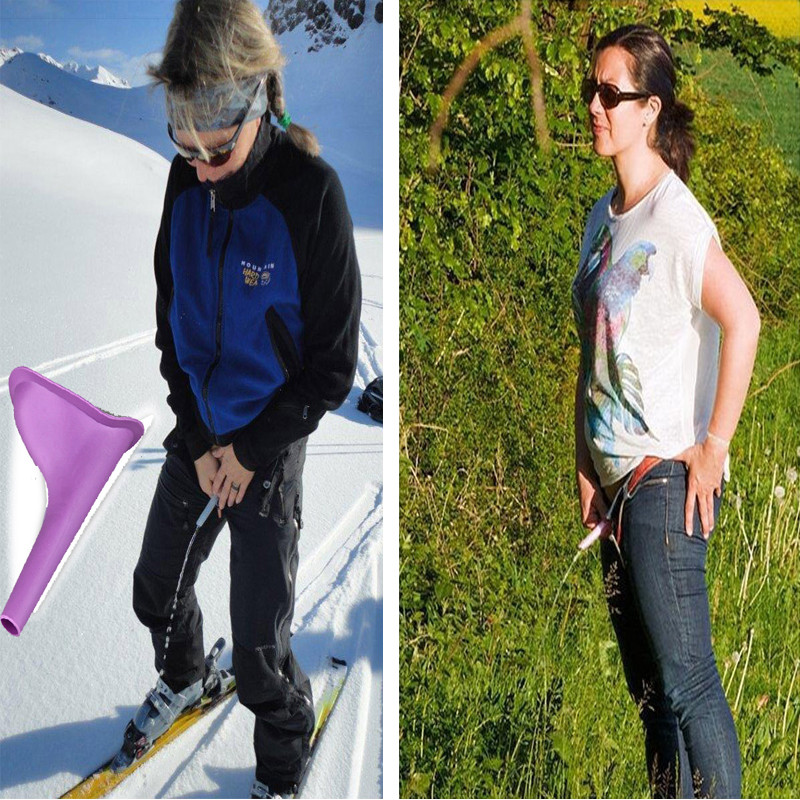 3 pcs Portable Peeing Standing Woman Urinal Girl Travel Top s