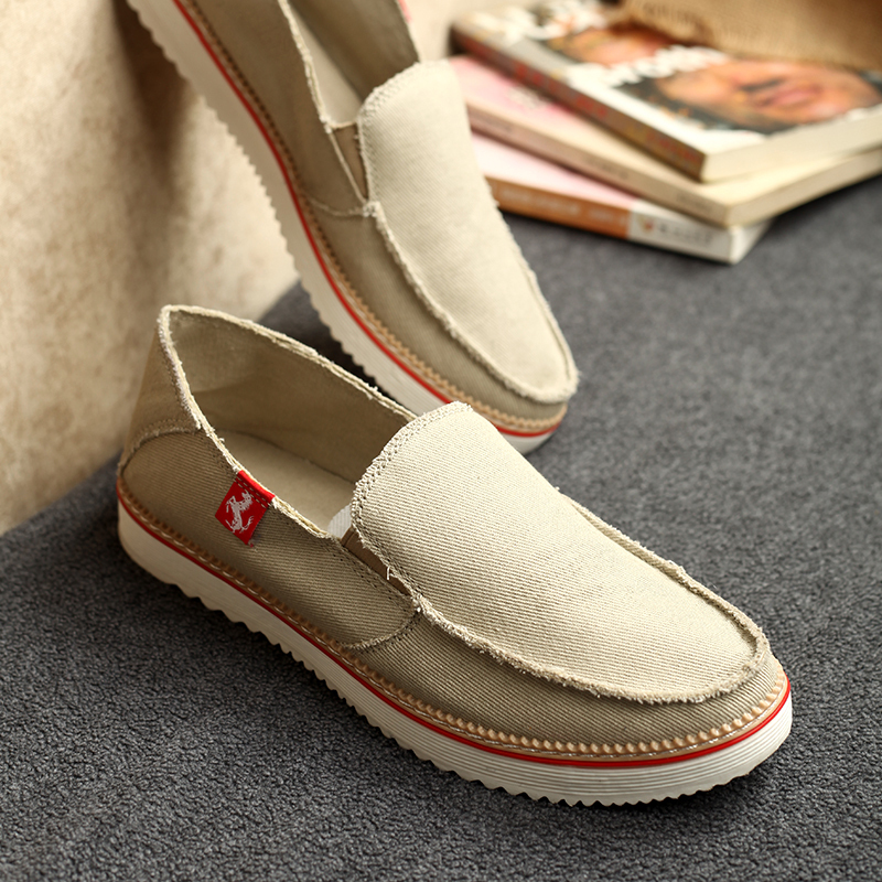 Fashion Casual Men Canvas Shoes Flats