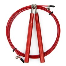Red Aluminum Jump Rope 3M Adjustable Ultra-speed Ball Bearing Speed MMA Boxing Cable Crossfit Wire Workout Fitness Equipment