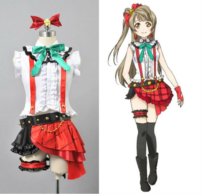 New Free Shipping Love Live Minami Kotori Stage Outfit font b Cosplay b font Costumes