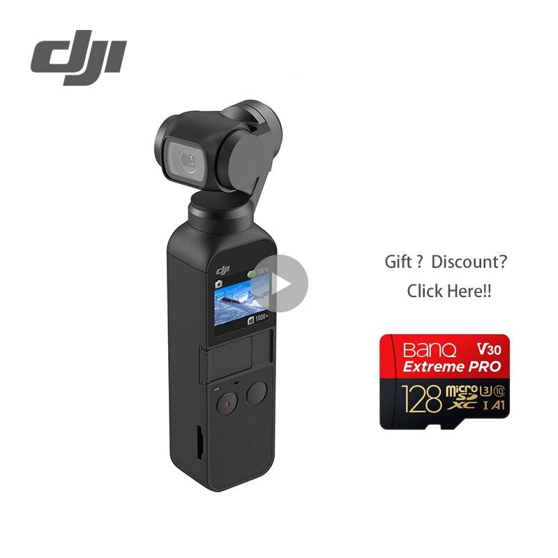 DJI Осмо карман 3 оси стабилизировалась ручной Камера с 4 K 60fps видео механические стабилизации Intelligent съемки быстрее корабль