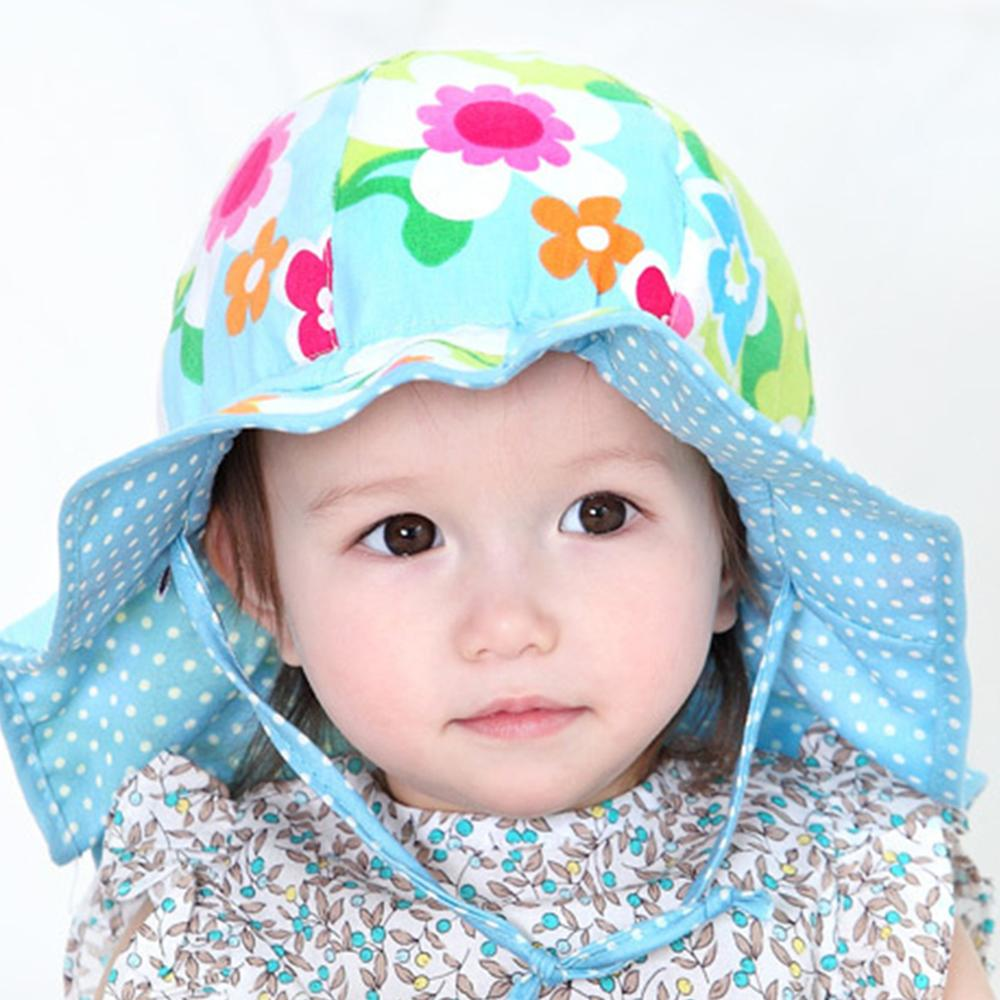 2016 Colorful Print Dots Floral Flower Two Sides Use Bucket Hat Cotton Summer Beach Sun Cap Baby Girl Kid Outdoor Beanie
