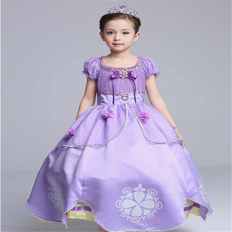Girl Dress Beauty Sofia PrincessDress Kids Girls Party Dress Halloween Girls Cosplay Costume Children Performance Clothing superhero halloween costume for girls cosplay performance dance show fancy costumes girls clothing children suit dress for girl
