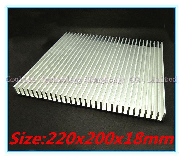 ФОТО High power 220x200x18mm radiator Aluminum heatsink cooler  for LED Electronic computer heat dissipation