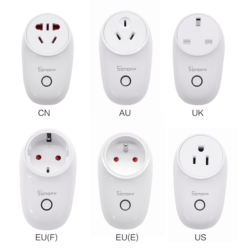 Sonoff S26 WiFi Smart Socket US/UK/CN/AU/EU Wireless Plug Power Sockets Smart Home Switch Work With Alexa Google Assistant IFTTT