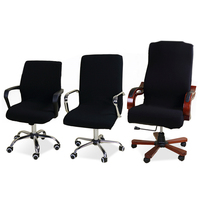 S/M/L 1PC Spandex Office Chair Cover Modern High Elastic Fabric Slipcover Black Red Seat Chair Case Home Computer Chair Covers