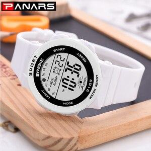 Image 5 - PANARS אופנה גבירותיי שעונים בני בנות סטודנטים דיגיטליים ספורט נשים שעון 50m עמיד למים שעוני יד מעורר Relogio Feminino