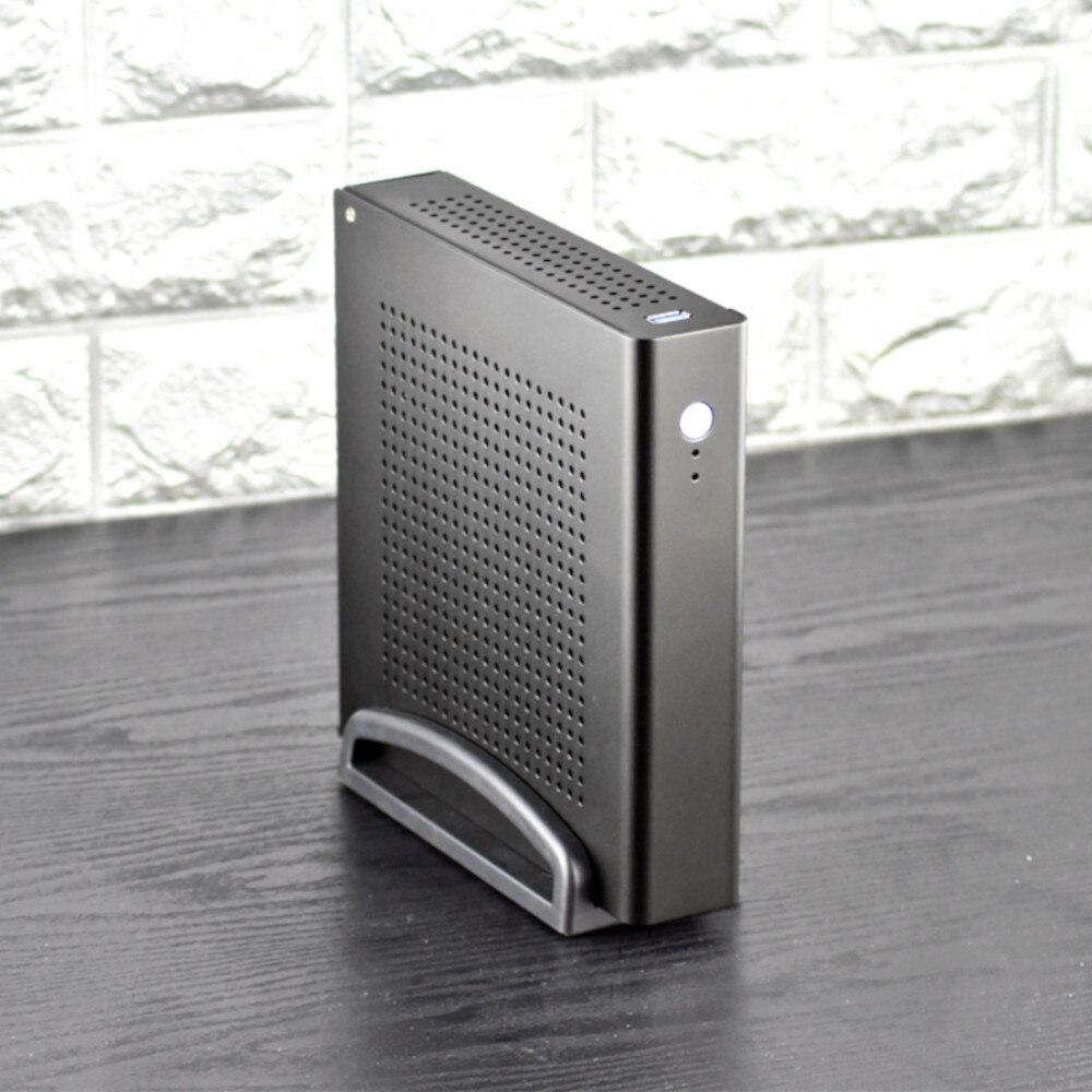 HTPC MINI funda de aleación de aluminio chasis Micro Torre ordenador fino ITX escritorio para oficina en casa