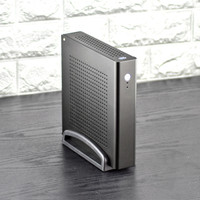 HTPC MINI PC Case Aluminum Alloy Chassis Micro Tower Computer Thin ITX Desktop For Home Office