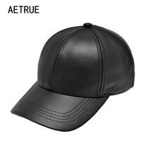 Plain New Men Baseball Cap Women Leather Snapback Caps Outdoor Sports Brand Adjustable Bone PU Hats