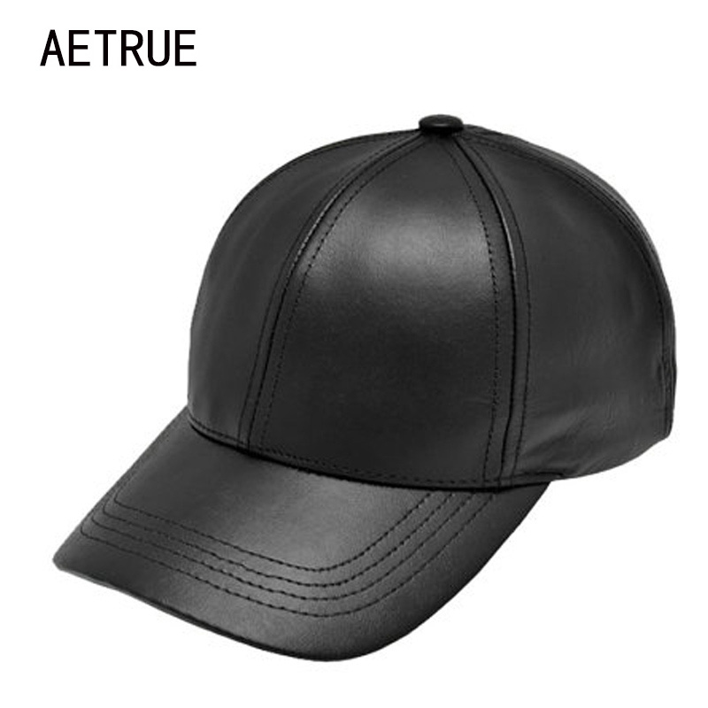 Plain New Men Baseball Cap Women Leather Snapback Caps Casquette Brand Adjustable Bone PU Hats For Men Dad Winter Baseball Caps 2017 new lace beanies hats for women skullies baggy cap autumn winter russia designer skullies