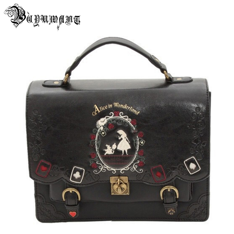 Buyuwant Women Backpack Girl Alice Bag In Wonderland School Backpack Bag Women Shoulder Bag Sac A Dos Mochila Bolsos