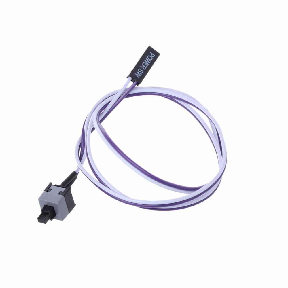 Komputer stancjonarny resetowanie pulpitu kabel stacjonarny ATX zasilanie zasilanie przełącznik złącze kable 48 cm