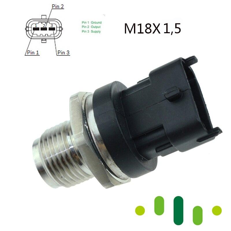 High Common Rail Fuel Pressure Sensor 0281006018 WE01-13-GC0 For 2016-2015 Ford Ranger Everest Mazda BT-50 BT50 2.5 3.0