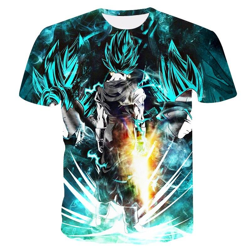 New 2018 Men Dragon Ball Z   t  -  shirt   Son Goku Vegeta Bodybuilding   T     Shirt   Super Saiyan   Shirt   summer Clothes Homme Dragonball Tee