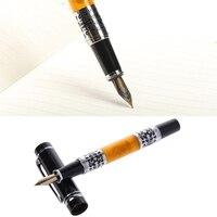 Роскошный Серебряный цветок янтаря целлулоид ролик перьевая ручка для лучший подарок дропшиппинг