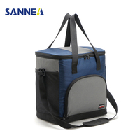SANNE 43L Durable Thermo Large Lunch Bag Meal Package Men Women Multifunction Cold Storage Take away Picnic Shoulder Cooler Bags