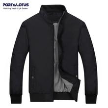 Port & Lotus Männer Bomber Jacke Marke Kleidung Dünne Herren Jacken und Mäntel Solide Kleidung Männer Herbst Jacke 049 großhandel