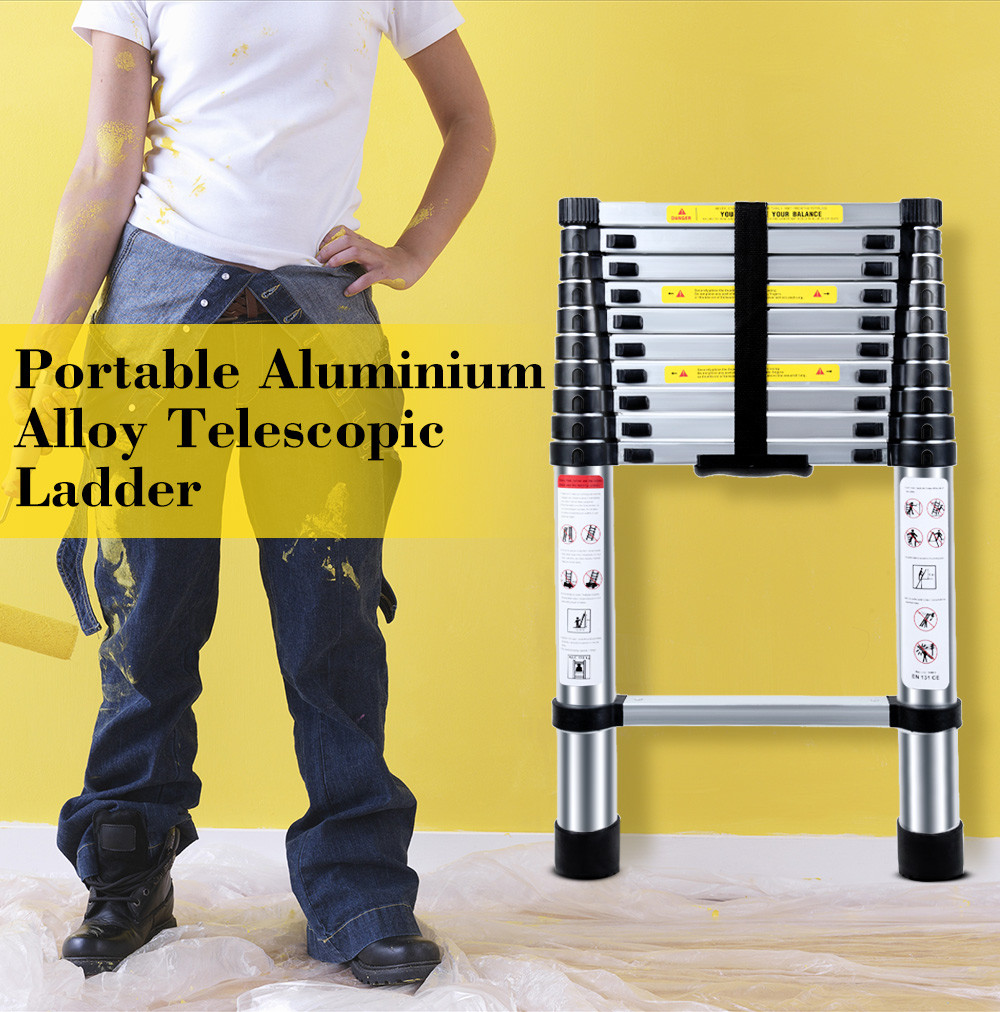 Sensational 3 2M Multifunctional Portable Aluminium Alloy Telescopic Ladder Strong Extendable Insulation Step Ladder Domestic Folding Ladder Alphanode Cool Chair Designs And Ideas Alphanodeonline
