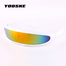 YOOSKE X-men Individuality Sunglasses Mercury Lens Laser Glasses Travel Windproof Sun Glasses Robots Eyewear