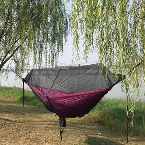 Image 5 - Portable Hammock Mosquito net Camping Survival Garden  Hunting Leisure Hamac Travel Double Person Hamak