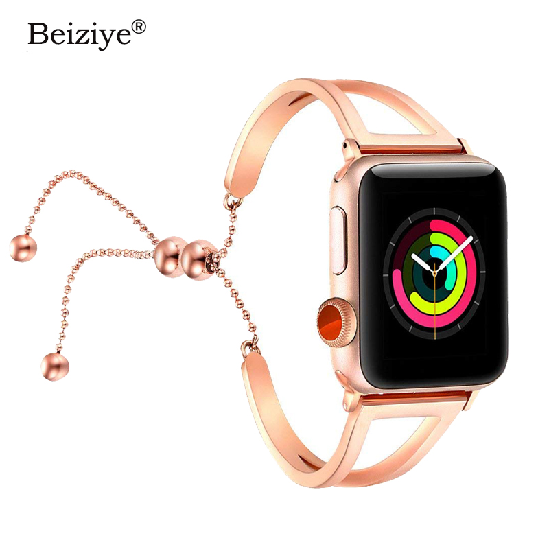 Women Stainless Steel watch strap for Apple watch 38mm 42mm 40mm 44mm bracelet Metal watch band for iwatch bands series 1 2 3 4Women Stainless Steel watch strap for Apple watch 38mm 42mm 40mm 44mm bracelet Metal watch band for iwatch bands series 1 2 3 4