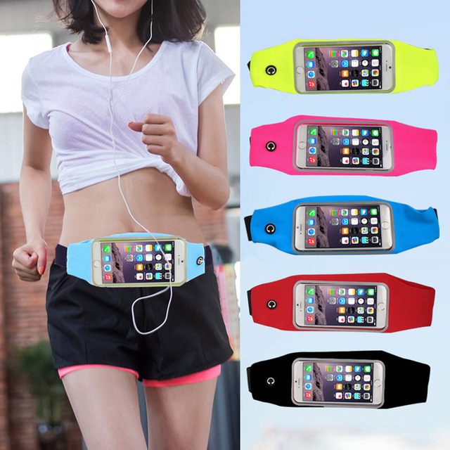 1PC Useful Sport Accessories Gym Waterproof  Waist Bag Belt Pouch Mobile Phone Case For IPhone 6 6s 7 8Plus 5 5s 5c SE Cover 2