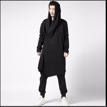 S-5xl Autumn And Winter Men Long Trench Coats Students Casual Jacket Tide Hoody Non-mainstream Plus Size Clothing Singer Costume