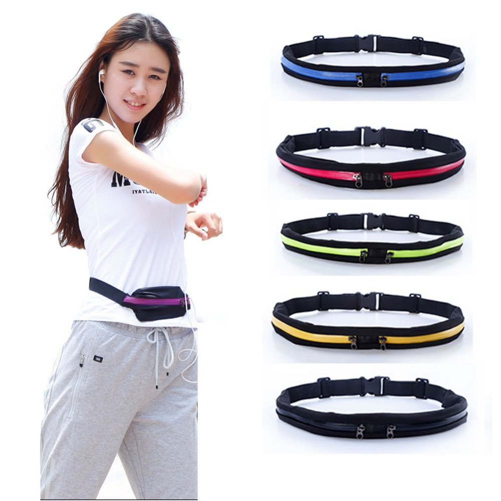 Running Bag Travel Pocket Pocket Pocket Jogging Sukan Portable Waterproof Pack Packing Pakej Outdoor Phone Anti-theft Pack Belt Sport Bag